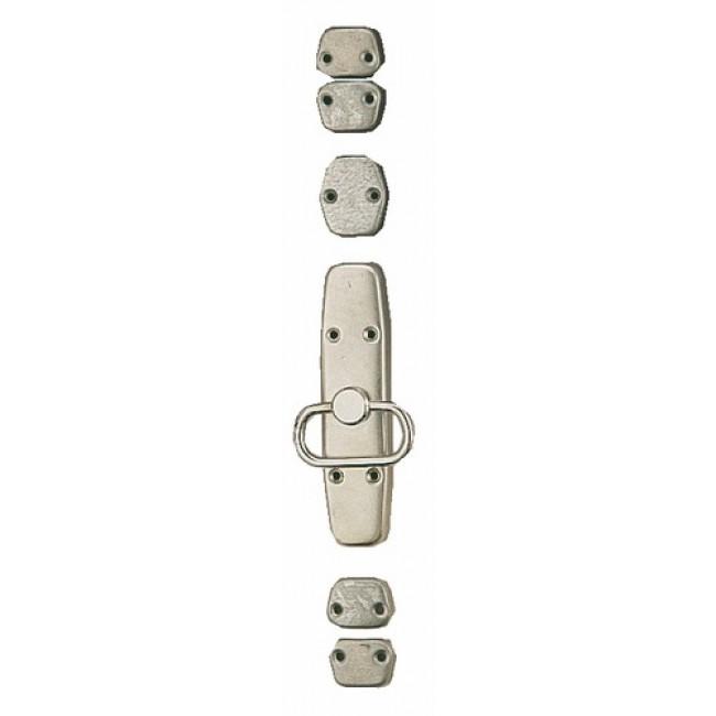 Crémone en applique avec anneau pour fenêtre bois - acier zingué MAP MASSARD