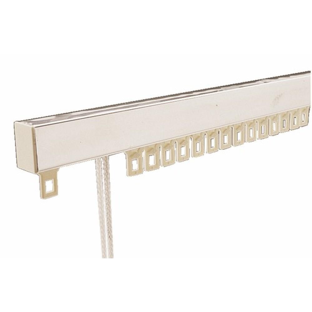 tringle rideaux chemin de fer mont e pour deux rideaux similaire bricozor. Black Bedroom Furniture Sets. Home Design Ideas