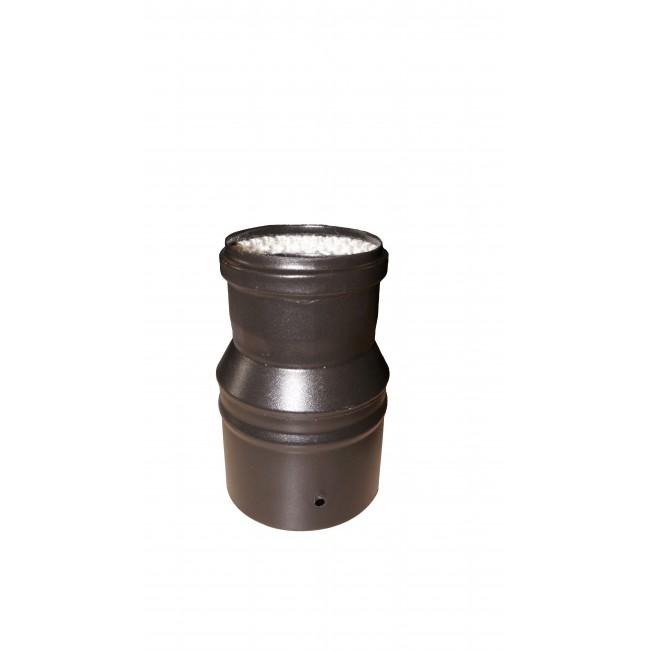 Réduction émail noir oour conduit pellets - joint fibre de verre TEN