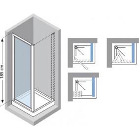 Paroi douche fixe verre transparent Riviera F - réglable de 88 à 92 cm NOVELLINI