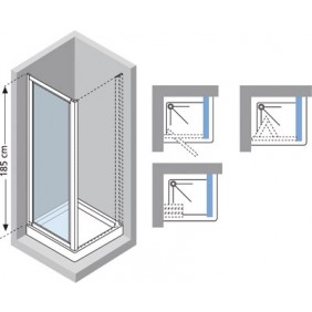 paroi de douche porte de douche bricozor. Black Bedroom Furniture Sets. Home Design Ideas