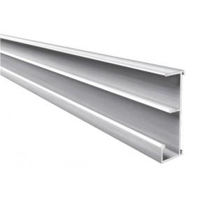 Profil de dossiers suspendus - en aluminium - 4 m RIVINOX