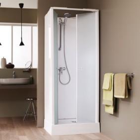 Cabine de douche Surf 4 - 70X70 cm - accès de face - portes battantes LEDA