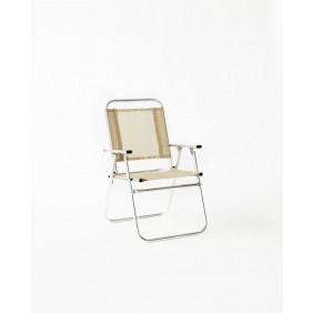Lot de 4 fauteuils inclinables – beige – Camelia 190 HEVEA