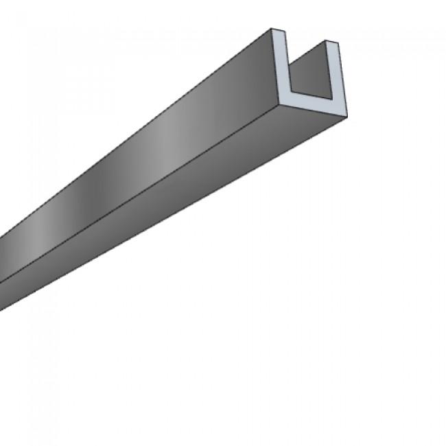 Profils U aluminium - 3 m Quincadécor