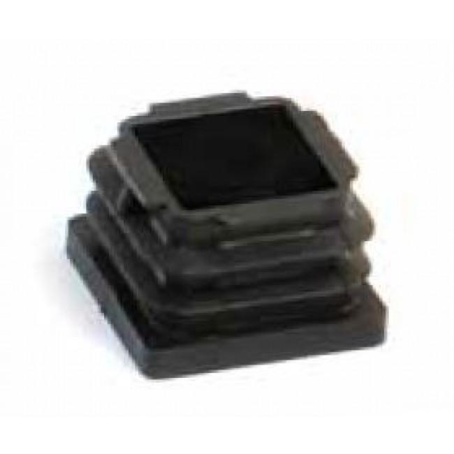 Embout caoutchouc noir entrant - carré AVL