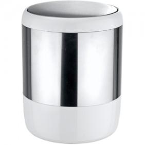 Poubelle de salle de bain à couvercle oscillant design Loft - 6 litres WENKO