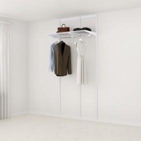 Kit dressing Basique - L105xP40 cm - blanc ELFA