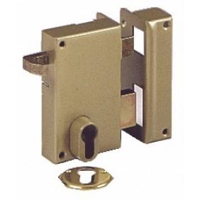 Serrure en applique verticale à tirage - cylindre européen - 7215 VACHETTE