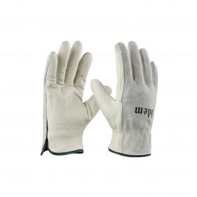 Lot de 12 paires de gants en cuir de bovin - dos en croûte de cuir ARCOTEK