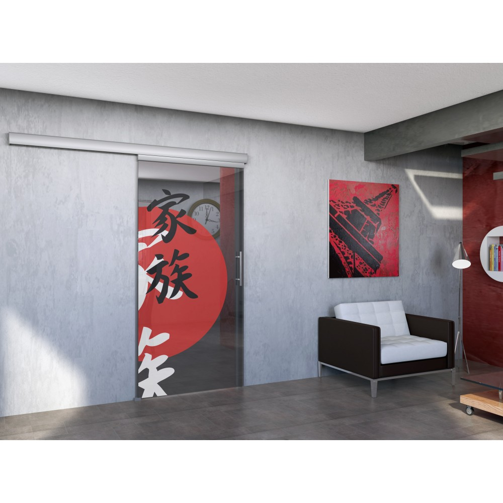 syst me porte coulissante en verre saf glass 80 mantion bricozor. Black Bedroom Furniture Sets. Home Design Ideas