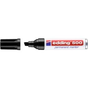 Marqueur permanent noir - pointe biseautée 2 à 7 mm - E 500 EDDING