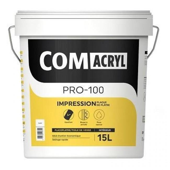 Impression acrylique plaque de plâtre - 15 litres - Comacryl pro-100 COMUS
