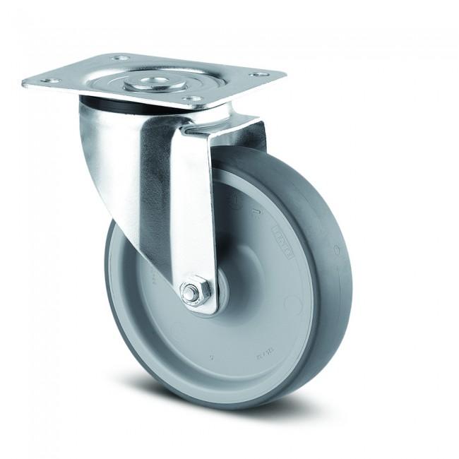 Roulette pivotante - caoutchouc non tachant - charge légère - Alpha TENTE