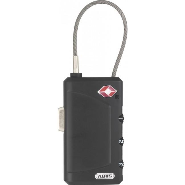 Cadenas à code - 3 molettes - TSA - à câble - largeur 30mm - 148TSA/30 ABUS