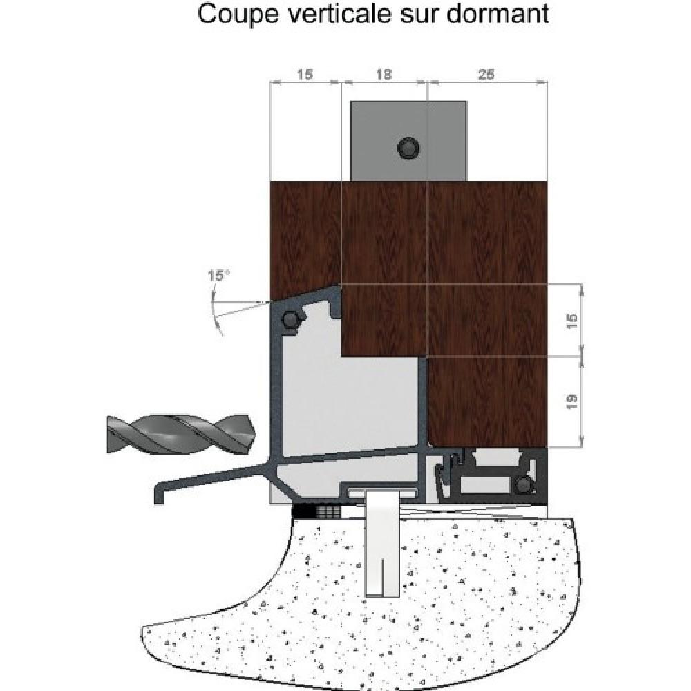 Seuil Aluminium à Rupture De Pont Thermique Pour Porte Fenêtre Bois