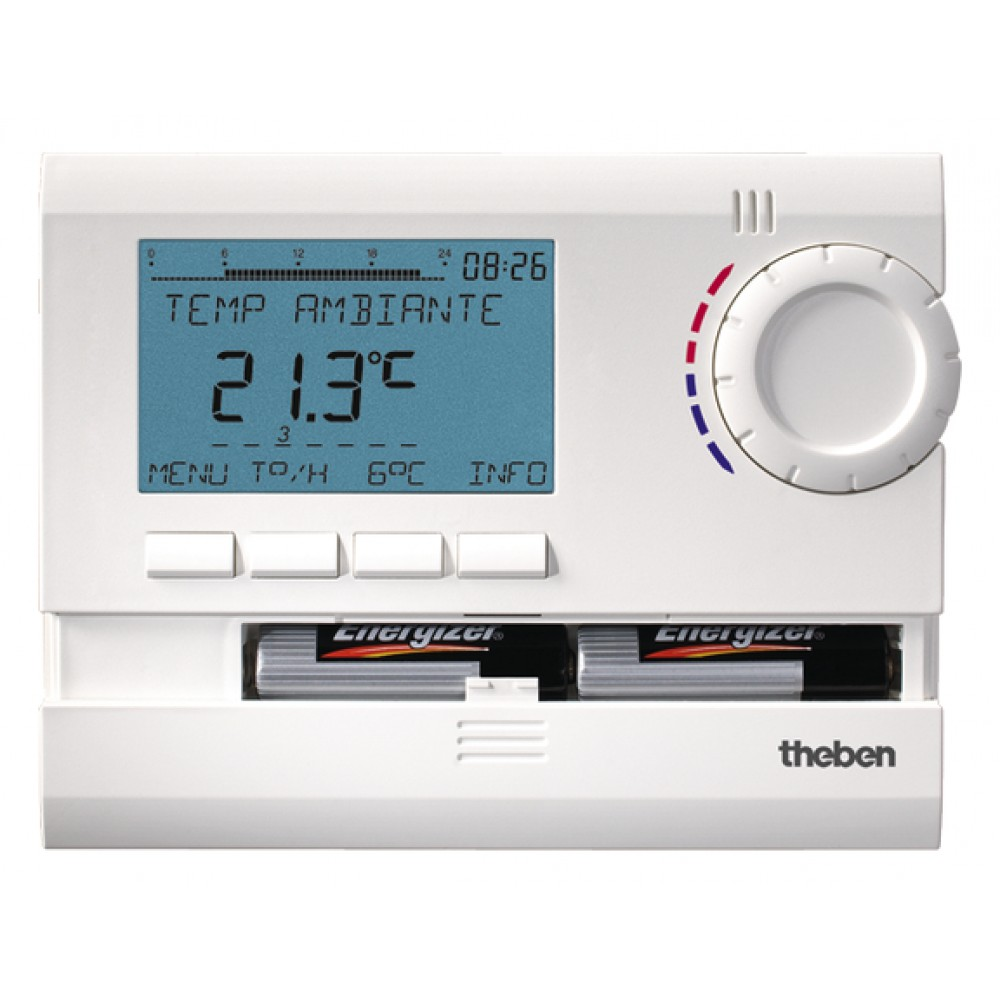 Thermostat programmable digital 7 jours 2 piles ramses 811 top 2 theben bricozor - Thermostat d ambiance programmable filaire ...