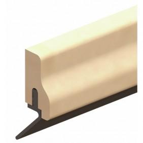 Plinthe en applique à lèvre de bas de porte type HDS - Hêtre