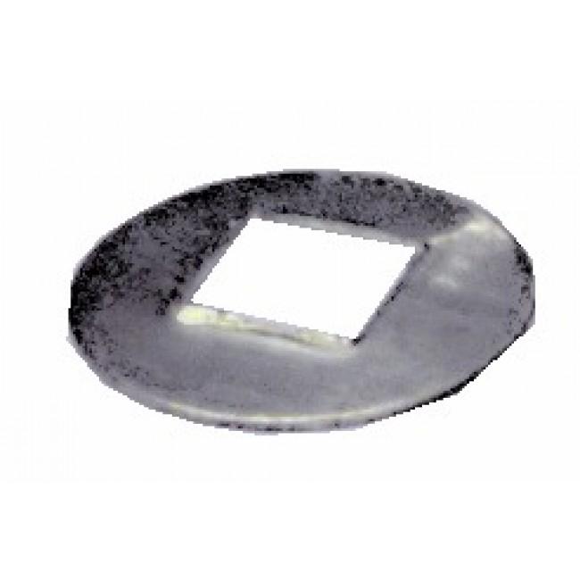 Rondelles acier pour carré - 10 pièces BRICOZOR