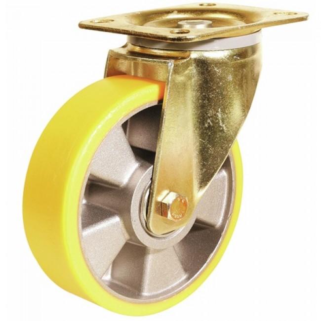 Roulette industrielle Fortainer, fortes charges, roue althane, pivotante GUITEL