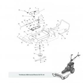 Pièces détachées pour débroussailleuse Minieffe et P55 EUROSYSTEMS