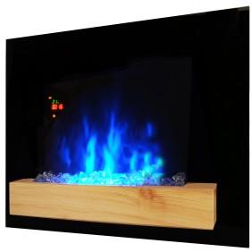 Cheminée Fire Wood - noire - flammes réglables