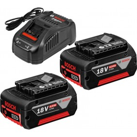 Set de base 2 batteries GBA 18 V 6,0 Ah + chargeur rapide GAL 1880 CV BOSCH