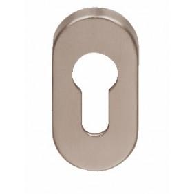 Rosace ovale clé I pour cylindre - inox 304 - série EST NORMBAU