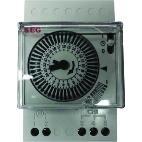Horloge journalière pour coffret électrique - 3 modules AEG