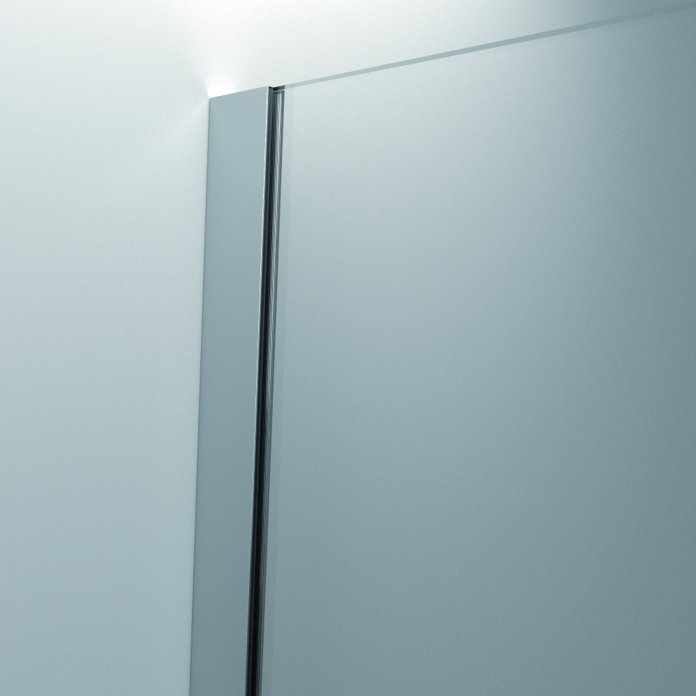 Paroi de douche l 39 italienne open 2 verre transparent - Paroi de verre douche italienne ...