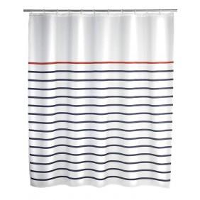 Rideau de douche - Marinière - 180 x 200 cm WENKO