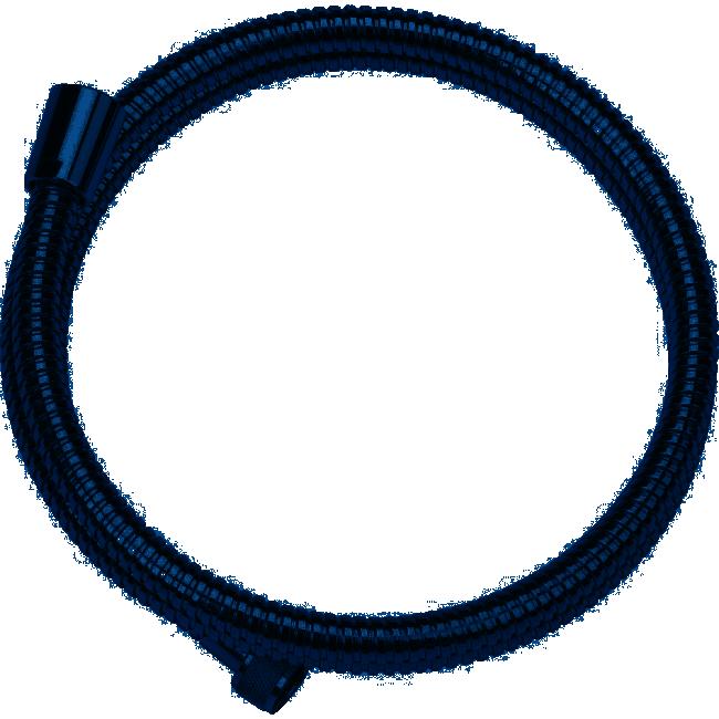 Flexible de douche en laiton chromé -  1,50m/1,75m/2m VALENTIN