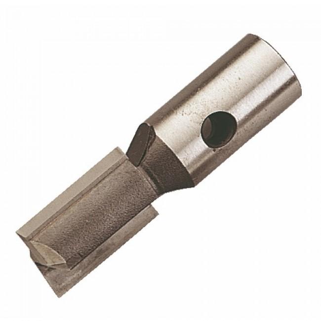 Fraise de défonceuse carbure monobloc brasé filetage intérieur 2 coupes droites coupe frontale ISOCÈLE