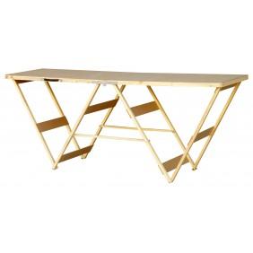 Table à tapisser professionnelle 2 m piètement bois OUTIFRANCE