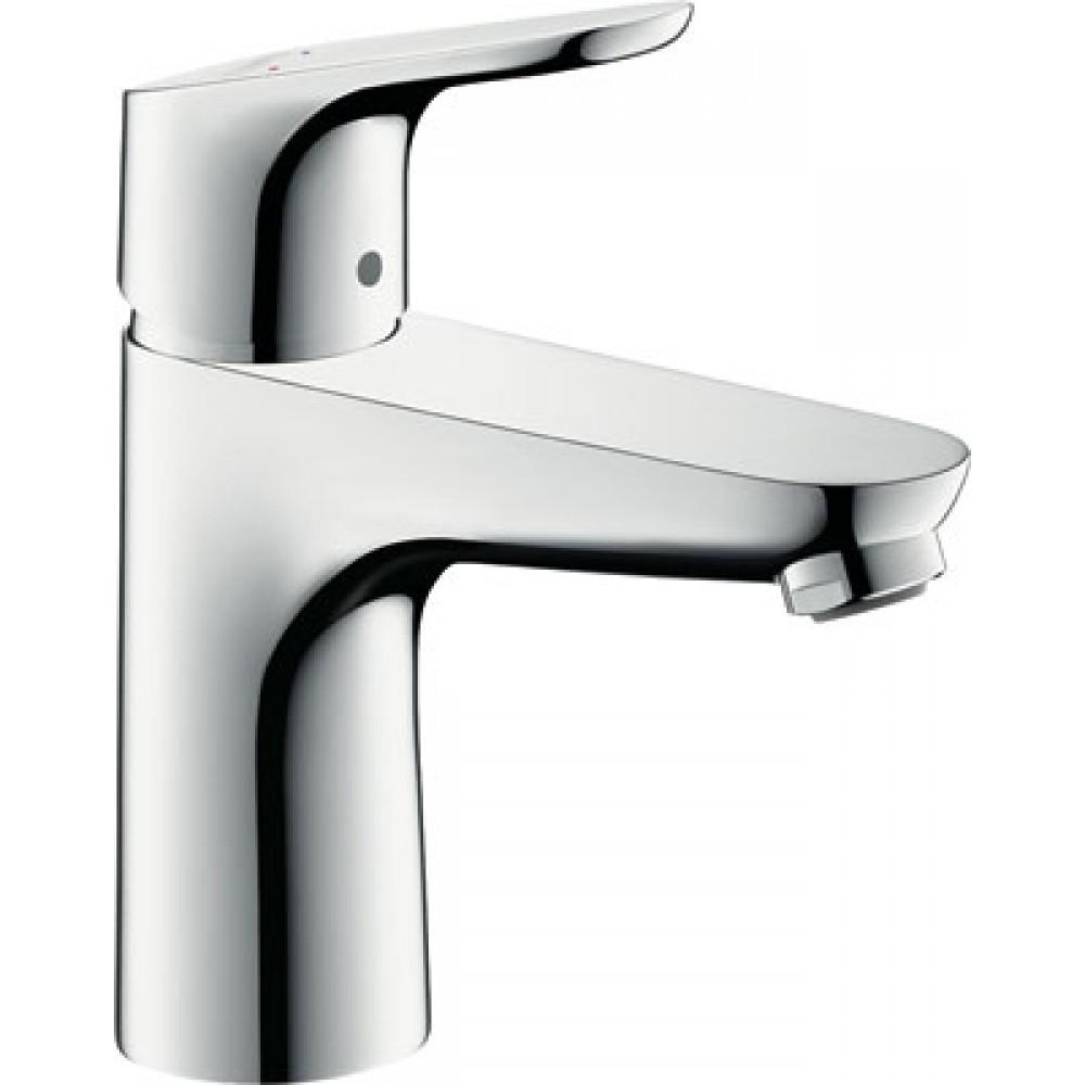 mitigeur lavabo chrom focus 100 31607000 bricozor. Black Bedroom Furniture Sets. Home Design Ideas