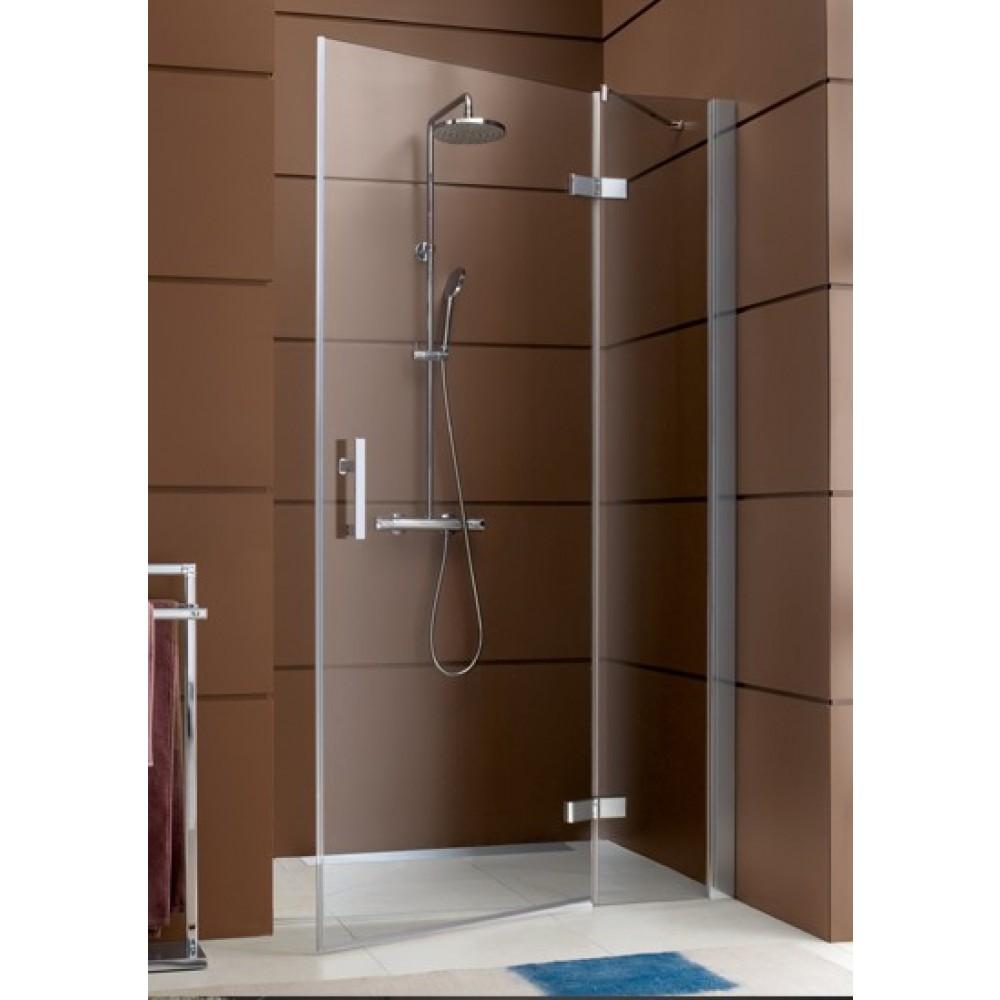 Paroi de douche ferm e pivotante partie fixe en ligne - Porte de douche avec paroi fixe ...