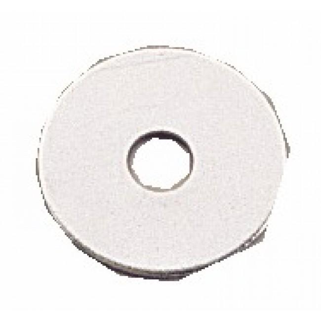 Rondelles plates Llu - acier zingué blanc BRICOZOR