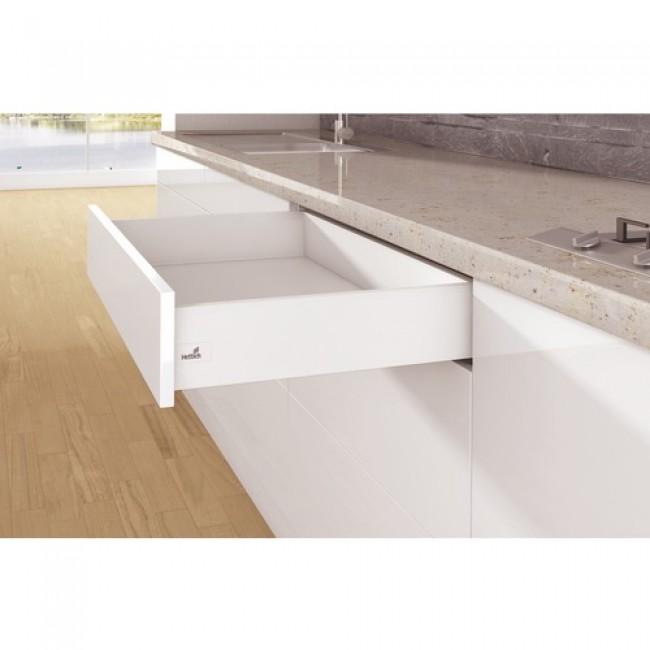 Kit tiroir simple ArciTech-hauteur profil 126 mm-blanc HETTICH