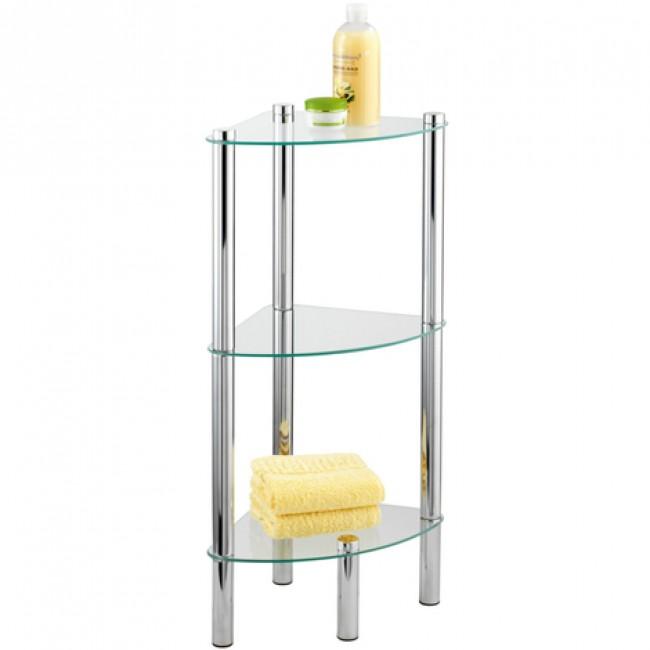 tag re de salle de bain d 39 angle yago 3 tablettes en. Black Bedroom Furniture Sets. Home Design Ideas