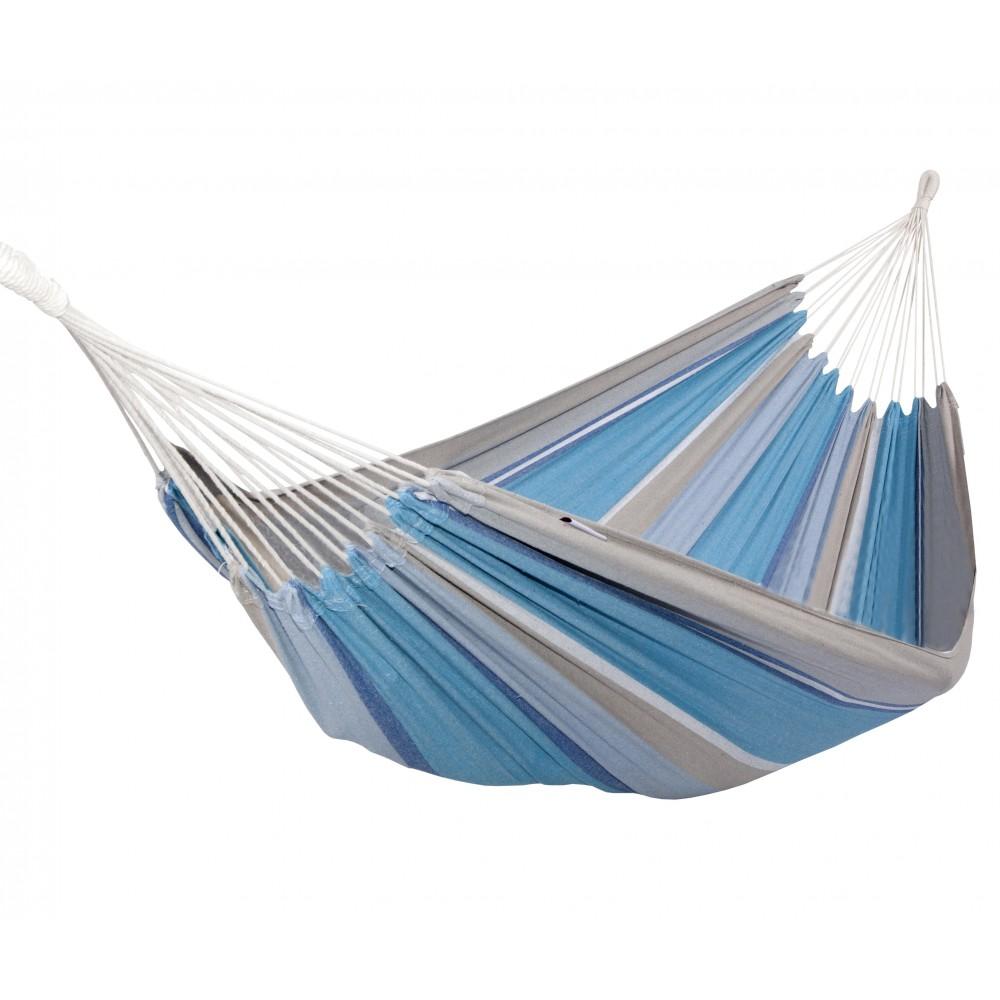 hamac coton polyester sablayan grey ocean double escuderos bricozor. Black Bedroom Furniture Sets. Home Design Ideas