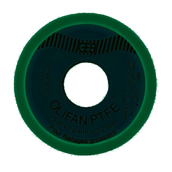 Téflon - gros diamètre - étanchéité de raccords filetés - 19 mm - 15 m GEB