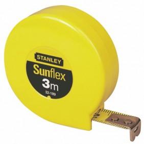 Mètre ruban sans blocage - boitier plastique - 3 m x 12,7 mm - Sunflex STANLEY