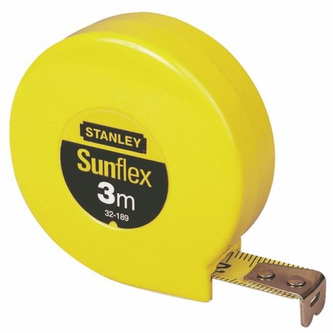 Mètre ruban sans blocage - boitier plastique - 3 m x 12,7 mm - Sunflex