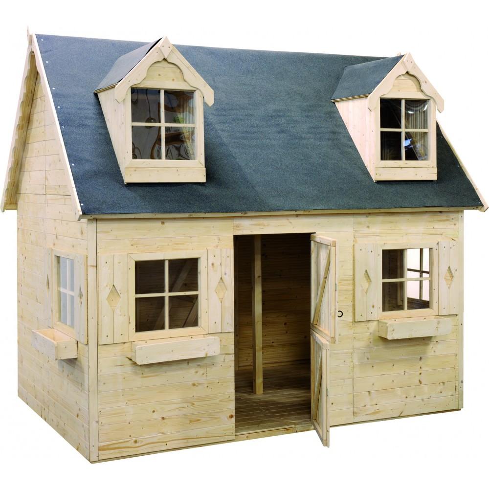 maisonnette enfant en bois louveteau 4 04 m jardipolys bricozor. Black Bedroom Furniture Sets. Home Design Ideas