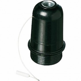 Douille avec interrupteur à tirette - Culot E27 - Plastique EBENOID