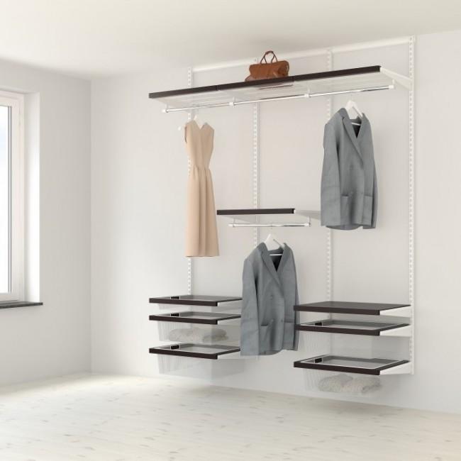Kit dressing Décor - L180xP40 - blanc/noyer ELFA