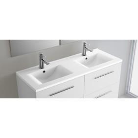 Plan double vasque céramique 120 x 46 cm CYGNUS BATH