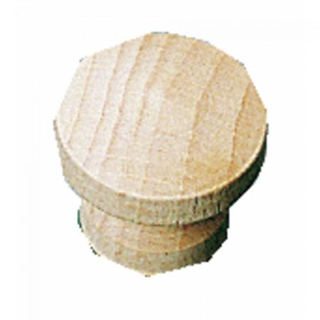 Boutons de meuble plats classiques hêtre BRICOZOR