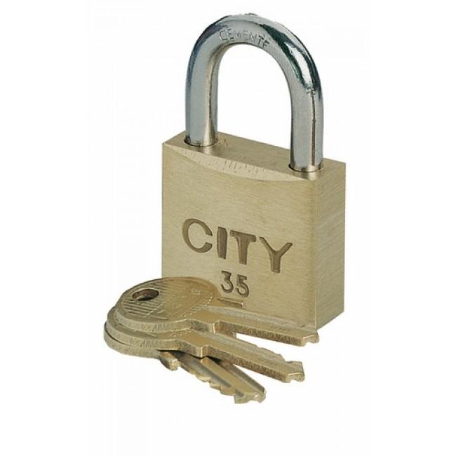 Cadenas à 3 clés - anse acier cémenté - City ISEO