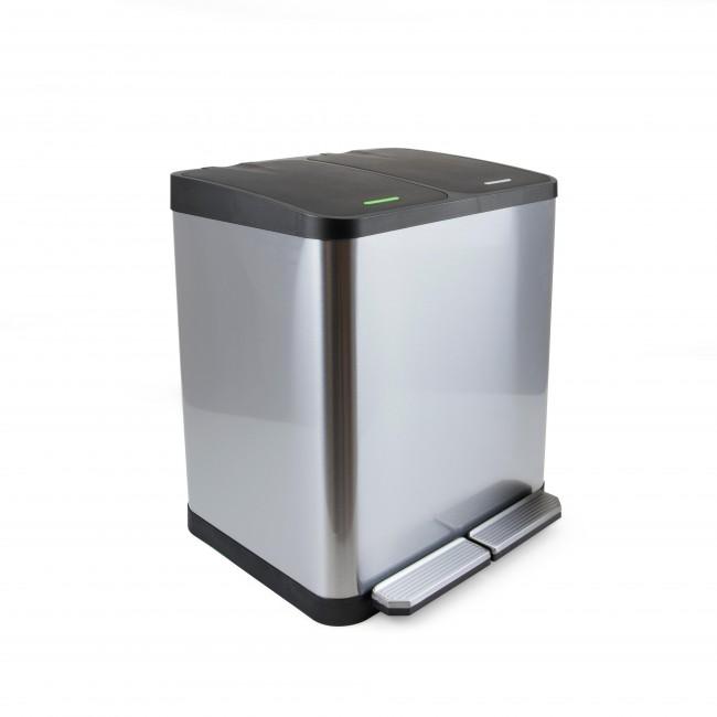 Poubelle à compartiments pour recyclage - inox - Recycle EMUCA